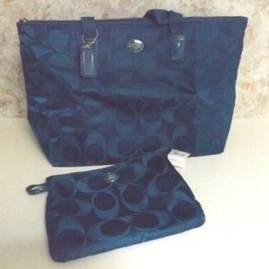 NWOT Coach Packable Tote - Navy Blue